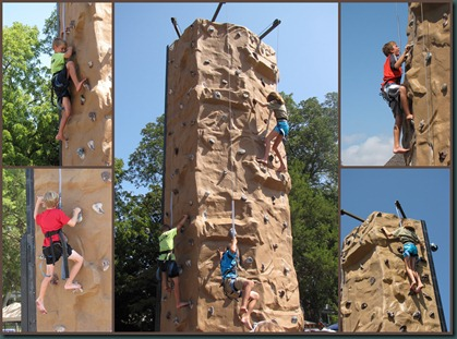 wall climb collage