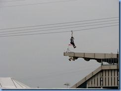 0540 Alberta Calgary Stampede 100th Anniversary - zipline from the pedestrian skyway