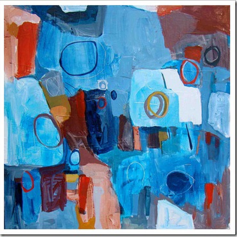 A Visual Conversation with Sara Morison - Abstract Acrylic Paintings