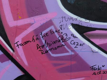 Imagini Irlanda de Nord: mesaj zidul pacii Belfast