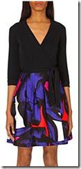 Diane von Furstenberg Jewel Silk Wrap Dres