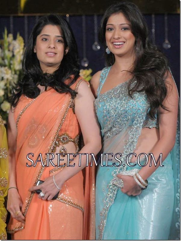 Orange_Blue_Shimmer_Embroidery_Saree