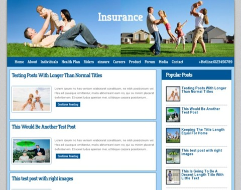 insurance blogger template  Insurance Co Blogger Template | Blogger Templates Gallery