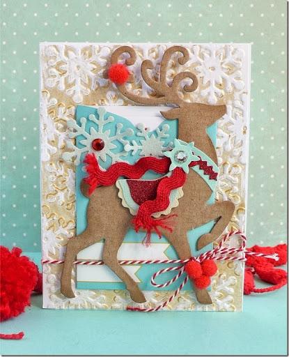 Sizzix Card Making Ideas Part - 20: Cafe Creativo - Anna Drai - Sizzix Big Shot - Card Christmas (1)
