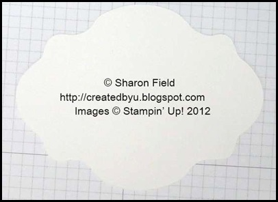 begin with a clear oval accent die cut