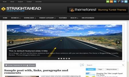 StraightAhead-Blogger-Template