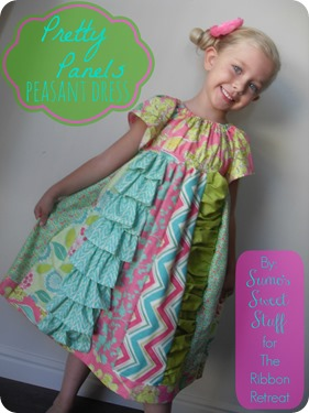 Pretty Panels Peasant Dress - Sumo's Sweet Stuff #sewing