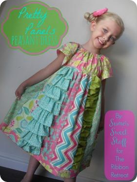 Pretty Panels Peasant Dress - Sumo's Sweet Stuff #sewing