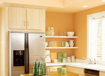 Sin pecado concebida pintando mi cocina for Best wall paint color for cream kitchen cabinets