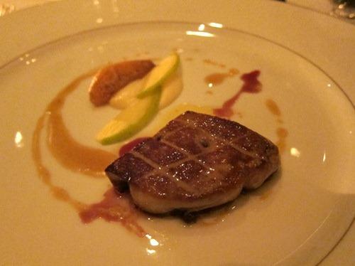 Honey Duck Foie Gras, Cooked & Raw Apples