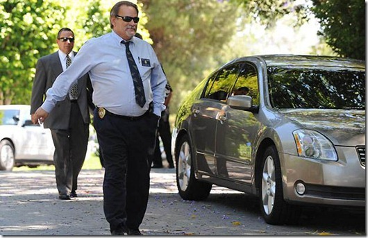 88686405...Ed Winter who is the Assistant Chief Investigator from the Department of the Coroner for Los Angeles County, leaves the rented Holmby Hills home of music legend Michael Jackson after his recent death, in Los Angeles on June 29, 2009. AFP PHOTO/Mark RALSTON (Photo credit should read MARK RALSTON/AFP/Getty Images)