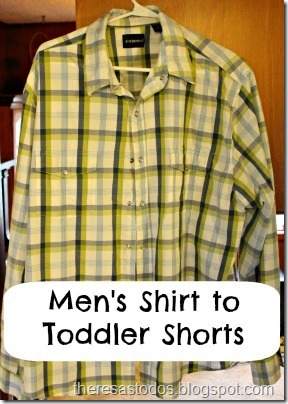 Men's Shirt to Toddler Shorts