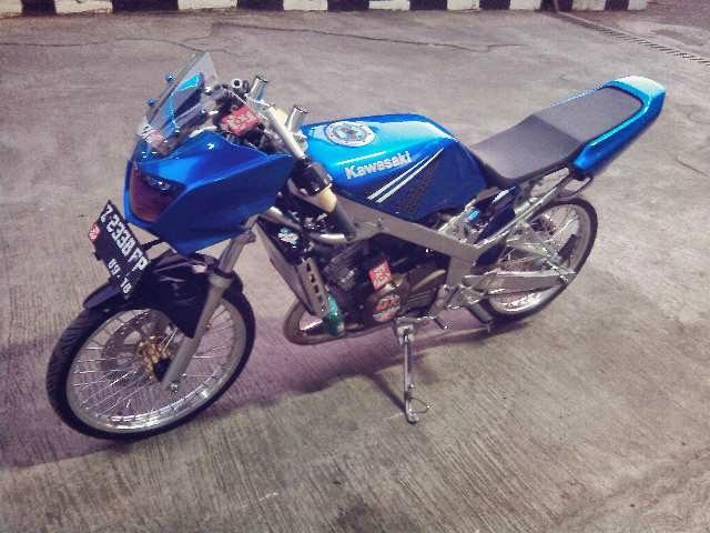 modifikasi motor ninja r warna biru terpopuler