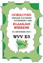 SEIZOEN 2011-2012 - WVV E5 - 01 SEP - WVV E5 - OORKONDE