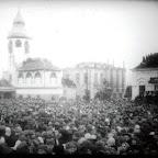 Фото Базарной площади перед казнью военных преступников, осужденных по делу о немецко-фашистских зверствах в городе Николаеве и Николаевской области (17 января 1946 г.)