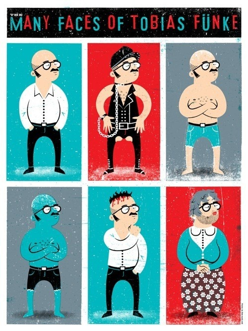 The Many Faces of Tobias Funke by Doe Eyed on OMGPosters| allonsykimberly.com
