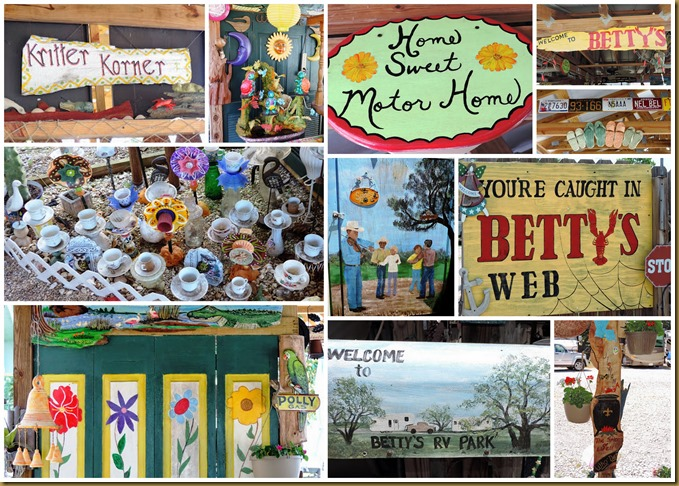 bettys rv park collage