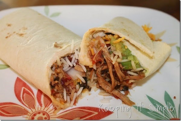 Crock Pot Pork Burritos keepingitsimplecrafts