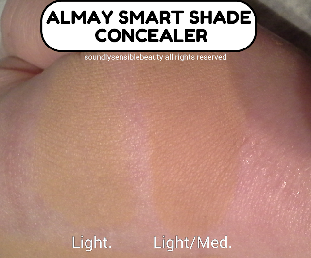 Almay Smart Shade Concealer; Review & Swatches of Shades 100 Light & 200 Light/Medium