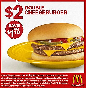 Mcdonalds $2 double cheeseburger Chicken Nugget Curry sauce Offer breakfast $2 Sausage Mcmuffin Egg $3 McSpicy burger ala carte promotion deals offers drinks and fries not included