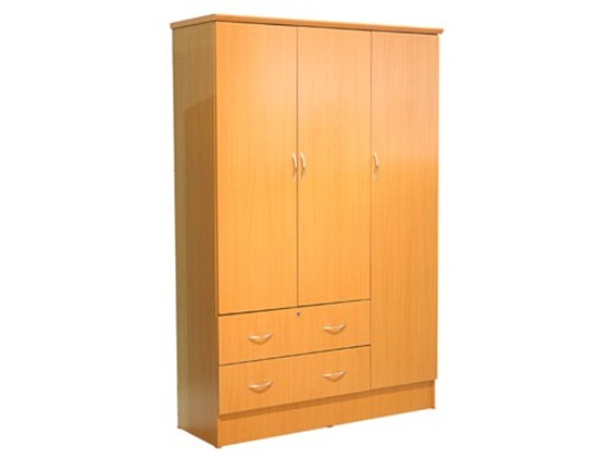 3-door wardrobe with drawer