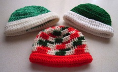 Multi and green hats