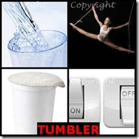 TUMBLER- 4 Pics 1 Word Answers 3 Letters