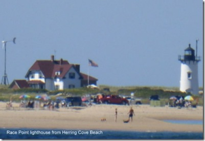 Race Point lighthouse from Herring Cove Beach