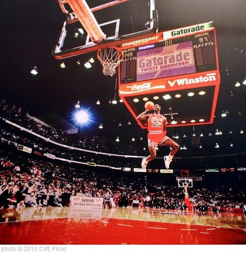 'Michael Jordan, Slamdunk Contest, Chicago, IL - 1988' photo (c) 2010, Cliff - license: https://creativecommons.org/licenses/by/2.0/