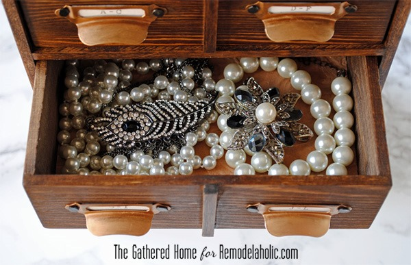 DIY Card Catalog Jewelry Box The Gathered Home for Remodelaholic9