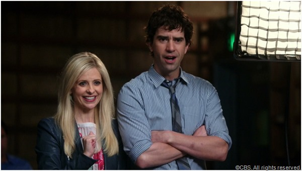Sarah Michelle Gellar and Hamish Linklater in THE CRAZY ONES.
