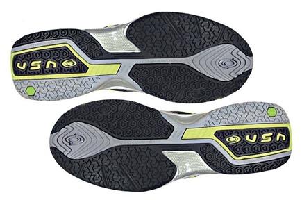 Suela Mixta Análisis Zapatillas pádel VISION pro V60115 Color Verde/Lima suela mixta.