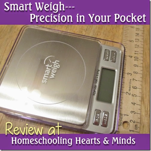 Smart Weigh, perfect scale for your homeschool science kit...review at Homeschooling Hearts & Minds