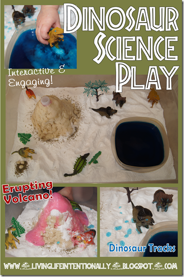 Dinosaur Science Play - Sensory Fun toddler, preschool, elementary #science #preschool