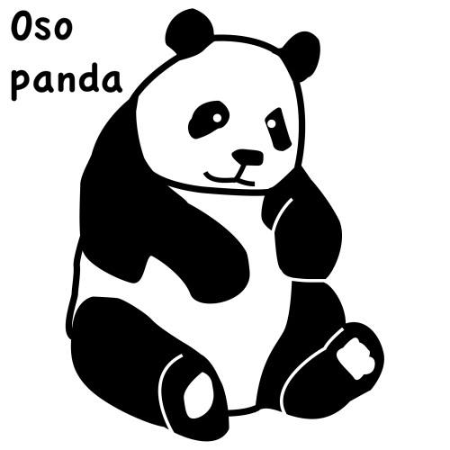 OSOS PANDA DIBUJOS PARA COLOREAR