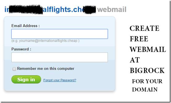 create-webmail- domain- bigrock