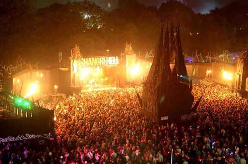Hell stage Glastonbury