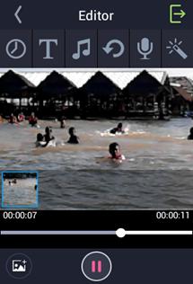 ใส่เสียงและข้อความใน smartphone วีดีโอ