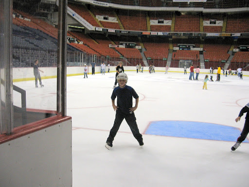 Grant on the ice at the Civic Arena.