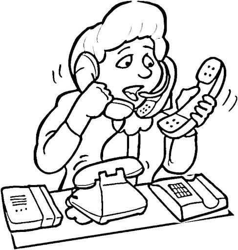 colorear dibujos de secretarias
