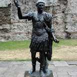 emperor trajan in london in London, London City of, United Kingdom