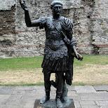 emperor trajan in london in London, London City of, United Kingdom