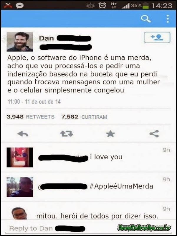 O SOFTWARE DO IPHONE É UMA MERDA!
