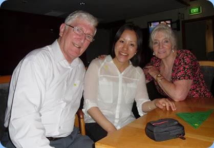 Some farewell shots. L to R: Club President,Gordon Sutherland; Kuniko Nakatani; and Club Secretary, Delyse Whorwood.