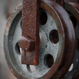Block and Pulley Study 18 by Robert Willson - Artistic Objects Antiques ( pulley, old, reclamations, block, rusty, robert willson, north carolina, antique objects, rusty pulley, nc, rusty block, bob willson, antique object, antique, antiques )