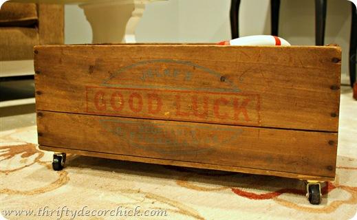 vintage rolling crate