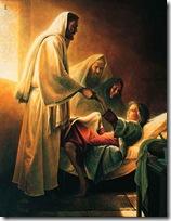 Jesus ressucista a filha de Jairo