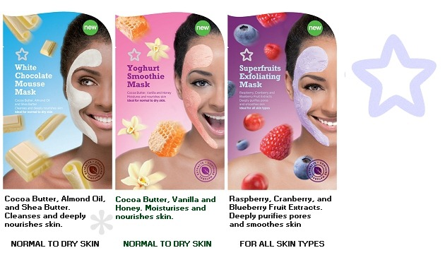 001-superdrug-face-masks-july-2012-white-chocolate-mousse-yogurt-smoothie-superfruit-exfoliating