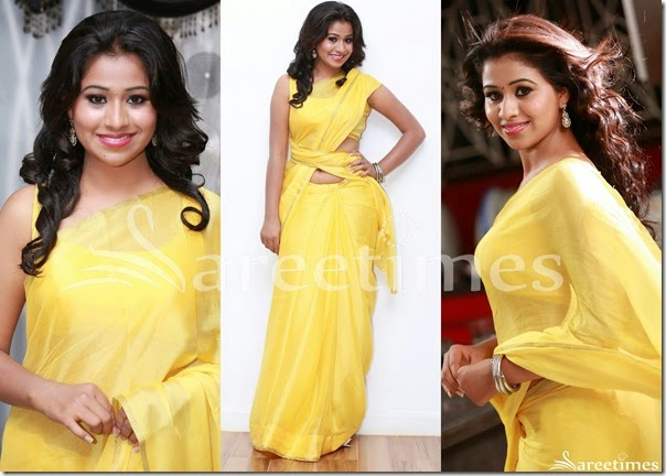 Yellow_Plain_Saree