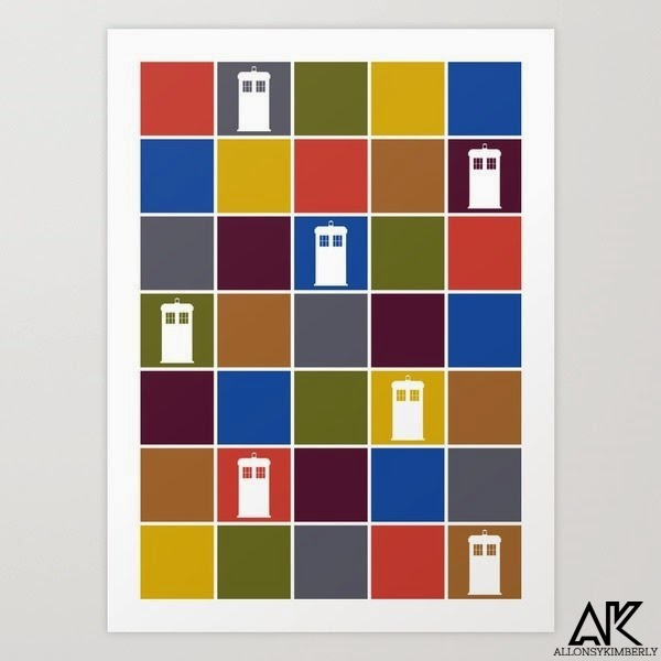 TARDIS Tiles Art Print by August Decorous via allonsykimberly.com